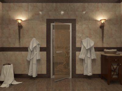 Стеклянные двери для хамама от 14 000 руб